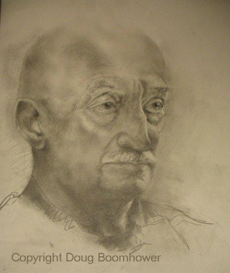 Portrait Drawing of Moe Tellier, before