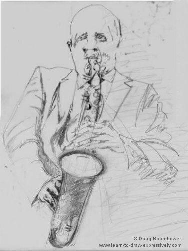Preliminary drawing of Eddie