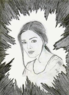 Amazing female portraits drawn by pencils