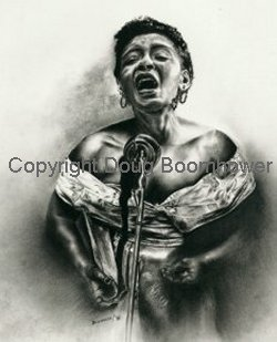 Billie Holiday Art Reproduction