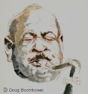 Learn to draw with ink wash and water color - Coleman Hawkins