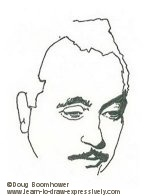 Line drawing of Django Reinhardt