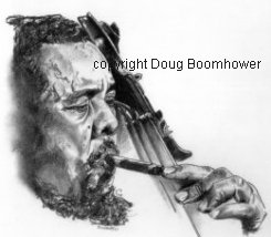 How to draw hair - Charles Mingus 1