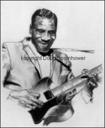 How to draw hair - T-Bone Walker 1