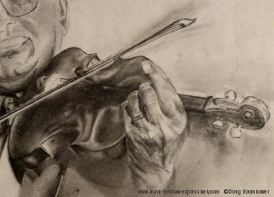 Pencil preliminary drawing - John Kolynchuk