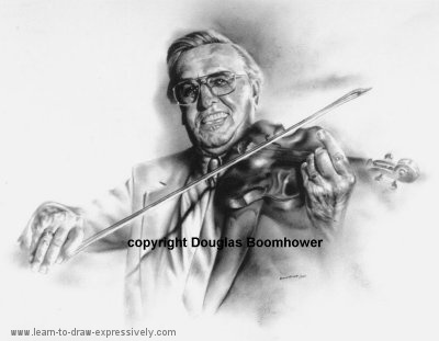 Violin Drawings - John Kolynchuk