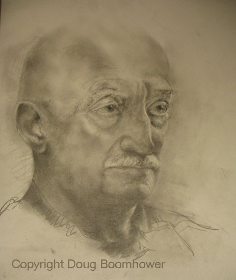 Portrait Drawing of Moe Tellier, before