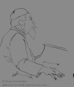 Light and dark study of Thelonious Monk 2