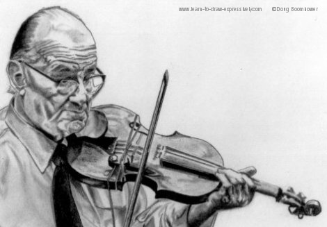 Violin drawings - Venuti