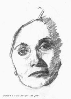 Woman's head sketch 250