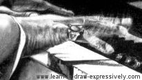 Light and dark of Thelonious' hand